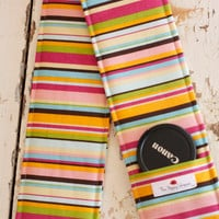 DSLR Camera Strap Cover with Lens Cap Pocket, Colorful Striped