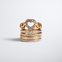 Love Heart Ring Set