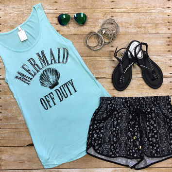 Off Duty Mermaid Tank: Blue