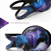 Space Galaxy Nebula large headphones earphones hand painted