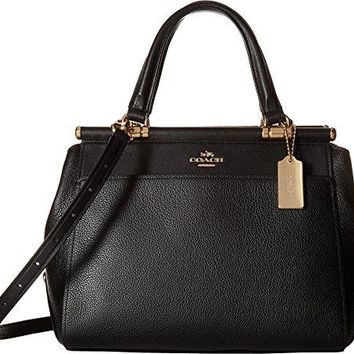 COACH Womens Drifter Satchel in Polished Pebble Leather COACH bag