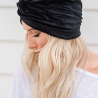Velvet Dreams Turban Beanie