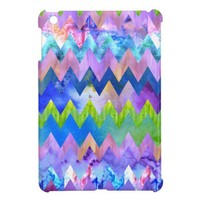 Trendy Artsy Watercolor Painting Chevron Pattern iPad Mini Cases from Zazzle.com