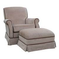 Angel Song 201021178Foam Classic Velvet Brown Adult Club Rocker Glider