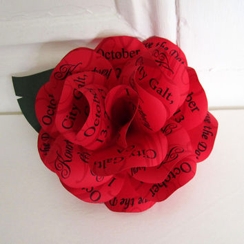 Red Rose Save the Date or Wedding  Invitation with Magnet. Customize it for Birthday and Anniversary Parties.