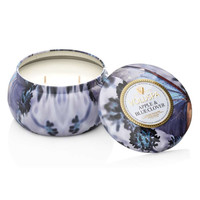 VOLUSPA MAISON METAL CANDLE: APPLE & BLUE CLOVER