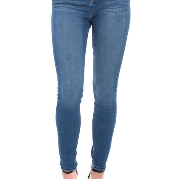 HIGH RISE WAIST SLIMMING SLIGHTLY FADED SKINNY JEAN