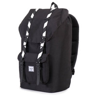 Herschel Supply Co.: Little America Backpack - Black / Black Stripe Rubber