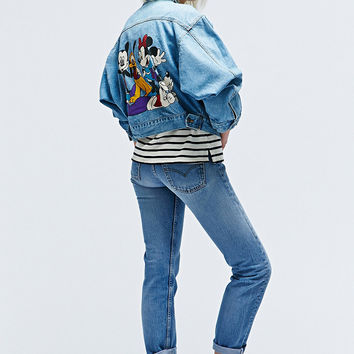 Vintage One-Of-A-Kind Mickey Denim Jacket - Urban Outfitters
