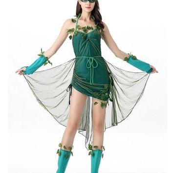 Flower Fairy Cosplay womens costume Poisonous Ivy pant super villain halloween