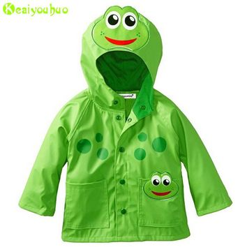 KEAIYOUHUO Girls Jacket For Boys Jackets Children Windbreaker Kids Raincoat Coat 2017 Autumn Girls Trench Coats For Boys Clothes