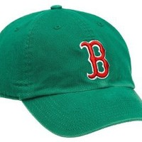 MLB Boston Red Sox St. Patrick's Franchise Fitted Baseball Cap, Kelly Green, Small