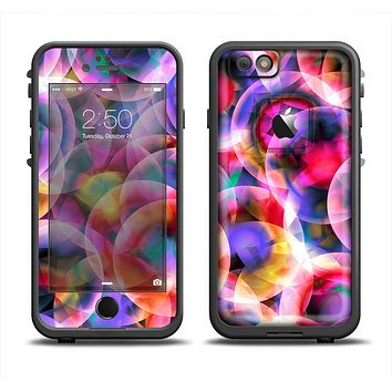 The Neon Glowing Vibrant Cells Skin Set for the Apple iPhone 6 LifeProof Fre Case