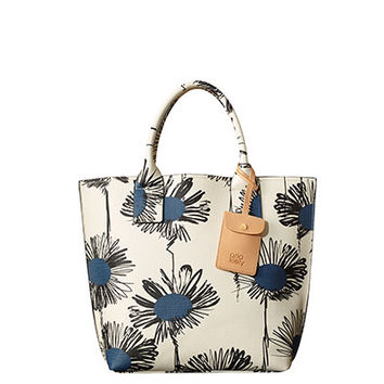 Orla Kiely - Textured Vinyl Scribble Sunflower Print Tillie Bag