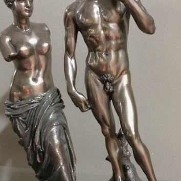 Figure statue set of David by Michelangelo with