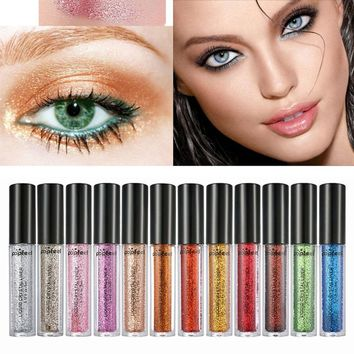 12 Colors Glitter Eyeshadow Powder Diamond Lipgloss Makeup Pigment Shiny Eye Liner Makeup Women Eye Cosmetic