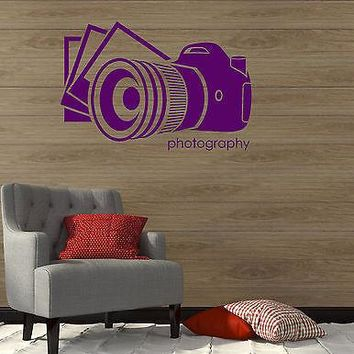 Wall Vinyl Sticker Decal Photo Photography Salon Art Photographer Decor Unique Gift (ig2119)