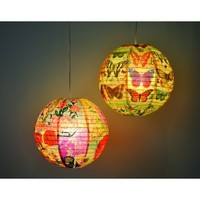 History of the Butterfly Decorative Hanging Paper Lantern with Light Kit
