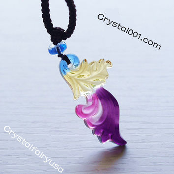 Ballet Lampwork Dancing Flower Necklace  Ballet Dancer Necklace