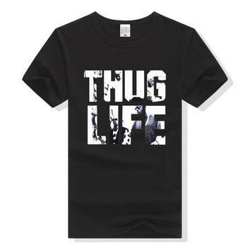 2Pac T Shirt Thug Life Hip Hop Tshirt Men Women Tupac Hiphop Tee Clothing 2 Pac Hip-hop Top T-Shirt