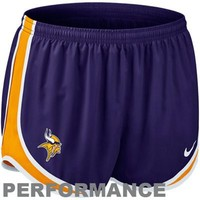 Nike Minnesota Vikings Ladies Tempo Performance Running Shorts - Purple