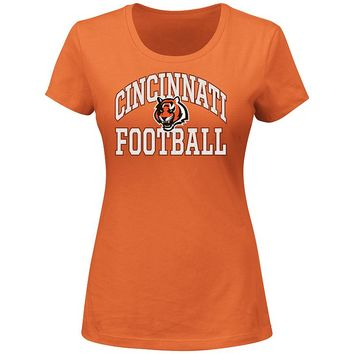 Majestic Cincinnati Bengals Franchise Fit Tee - Women's, Size: