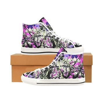 Country Girl Design 1 Vancouver High Top Canvas Women's Shoes