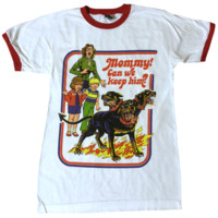 Mommy! Can We Keep Him? Cerberus Ringer Shirt
