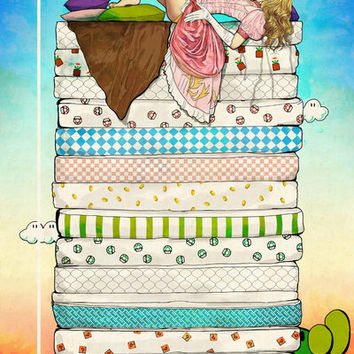 Princess Peach and the Pea Art Print by Keith P. Rein | Society6