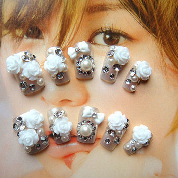 kawaii DIY Japanese fake nail art.jewelry.