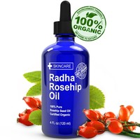 ORGANIC Rosehip Oil - HUGE 4 OUNCE - 100% Pure Certified Organic - BEST MOISTURIZER to heal Dry Skin, Fine Lines, Stretch Marks, Eczema, Acne Scars, & More! - Cold Pressed, unrefined, Virgin Rose hip Seed Oil For Face and Skin - Guaranteed to Refresh, Revi