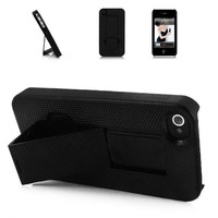 2012 Smart Stand Hard Case for iPhone 4S/4(Black)