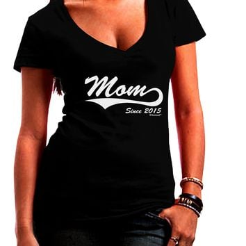 Mom Since (Your Year Personalized) Design Juniors V-Neck Dark T-Shirt by TooLoud