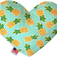 Pineapples and Polka Dots 6 inch Heart Dog Toy