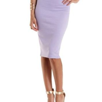 Lavender High-Waisted Bodycon Pencil Skirt by Charlotte Russe