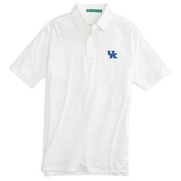 University of Kentucky Gameday Driver Performance Polo in Classic White by Southern Tide