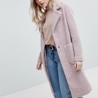 New Look Textured Wool Midi Coat at asos.com