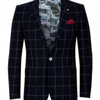 Cotton check blazer - NOSTALG - Ted Baker
