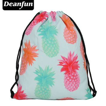 Deanfun 3D Printing Woman Drawstring Bag Fullprinting Backpack SKD100