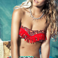 Maaji 2012: Flowing Colt Coral Two Piece Swimsuit Bandeau Bikini MS620 | Swimwear Boutique