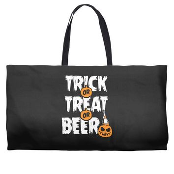 trick or treat or beer Weekender Totes