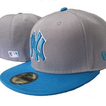 ESBON New York Yankees New Era MLB Authentic Collection 59FIFTY Cap Blue-Grey
