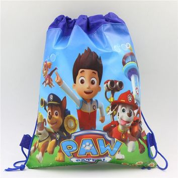 1pc\lot DOG Gift BagsPAW Patrol Kids Favors Baby Shower Non-Woven Fabric Drawstring Backpack Party Decoration Birthday Supplies