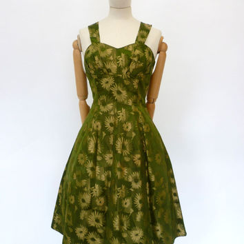 VINTAGE 1950s EVENING SWING DRESS 8