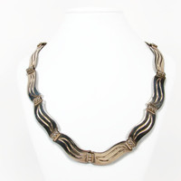 Emma Melendez Sterling Silver Necklace, Taxco Mexico, Jose Luis Flores, 925 Silver, Vintage Necklace, Estate Jewelry, Sterling Necklace, JLF