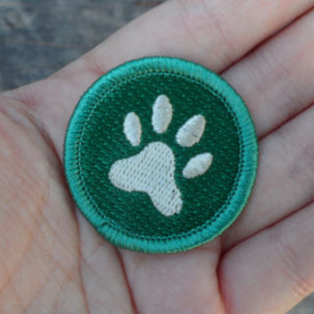 Paw Print 'Pet Lover' Scout-Style Merit Badge