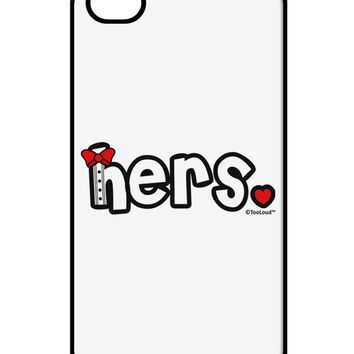 Matching His and Hers Design - Hers - Red Bow Tie iPhone 4 / 4S Case  by TooLoud