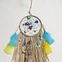 Disney Inspired Ariel and Friends Dream Catcher with message in a bottle-fiber art-weaving-wall hanging-decoration-kids gift