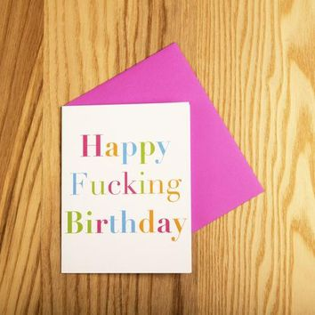 Card-Happy F'ing Bday