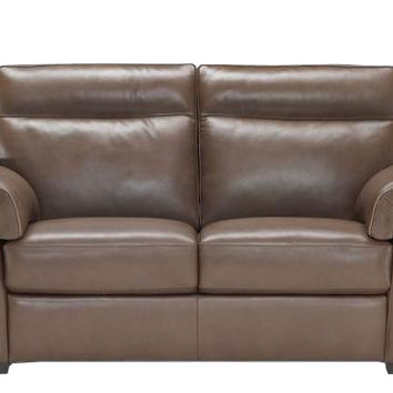 Cervo Leather Loveseat by Natuzzi Editions
